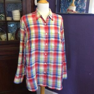 Ralph Lauren lightweight plaid shirt